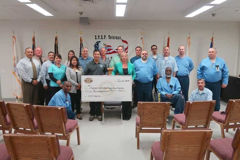 Salinas Valley State Prison inmates donate to veterans group