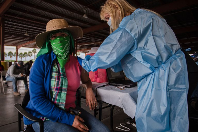 Taking the vaccine into the fields to help vulnerable farmworkers